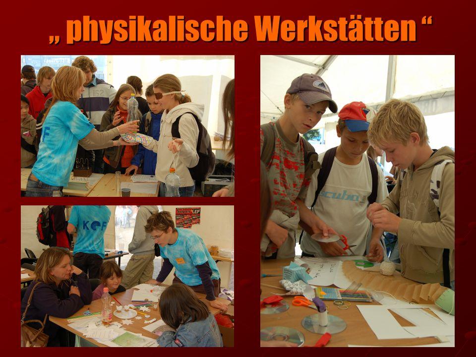 """"""" physikalische Werkstätten"""