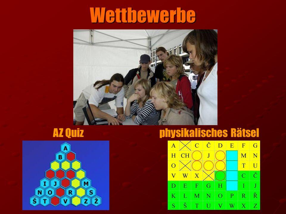 Wettbewerbe AZ Quiz physikalisches Rätsel