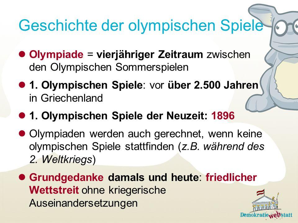 Geschichte der olympischen Spiele