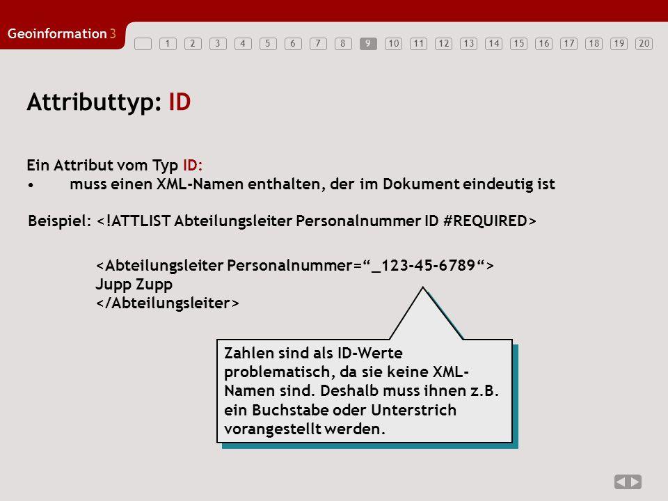 Attributtyp: ID Ein Attribut vom Typ ID: