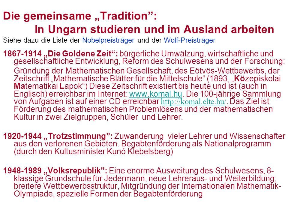 """Die gemeinsame """"Tradition :"""