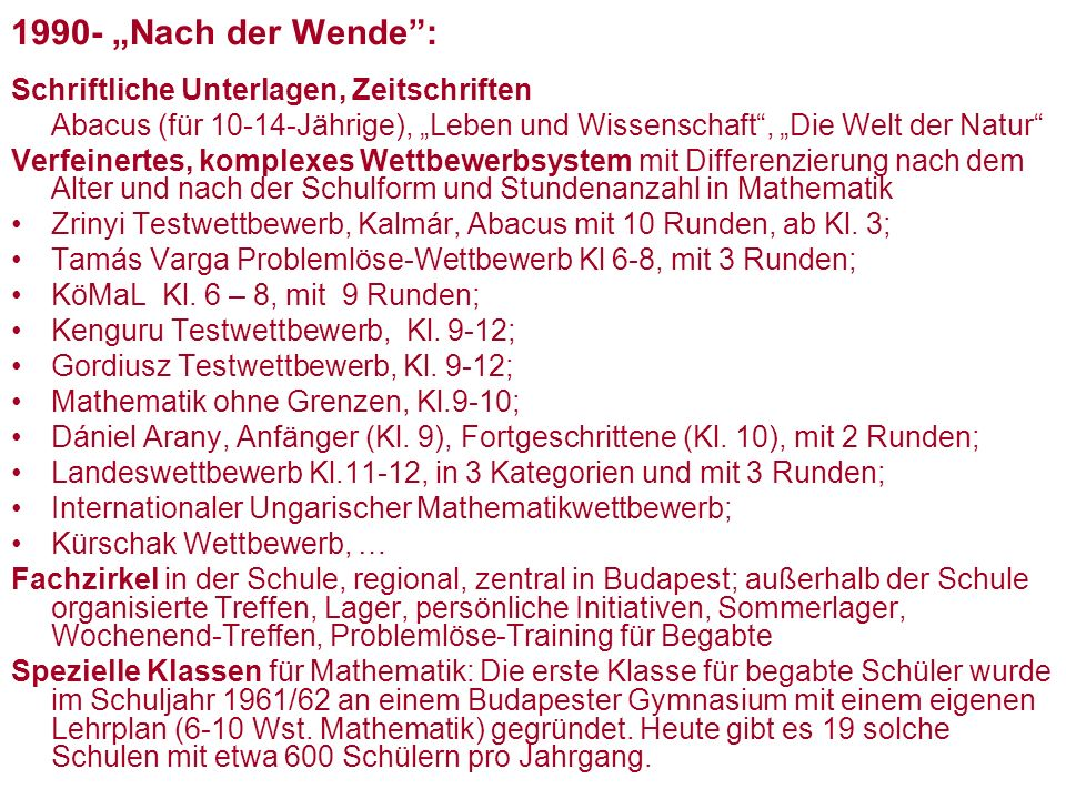 """1990- """"Nach der Wende : Schriftliche Unterlagen, Zeitschriften"""