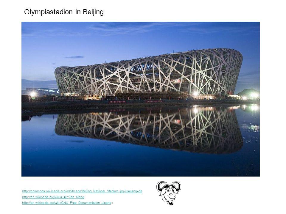 Olympiastadion in Beijing