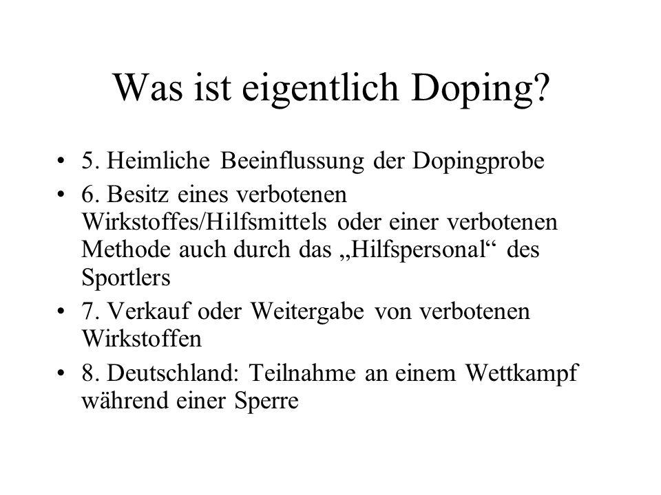 Was ist eigentlich Doping