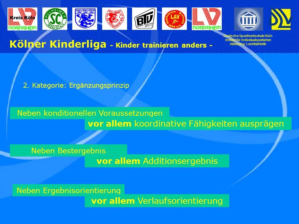 Kölner Kinderliga - Kinder trainieren anders -