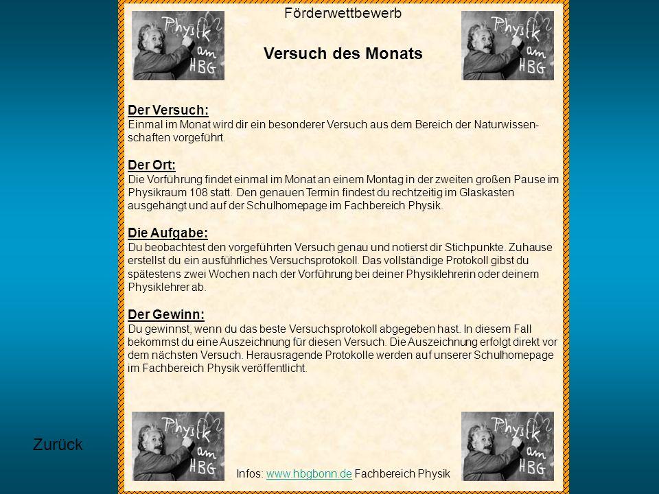 Infos: www.hbgbonn.de Fachbereich Physik