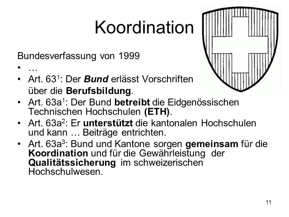 Koordination Bundesverfassung von 1999 …