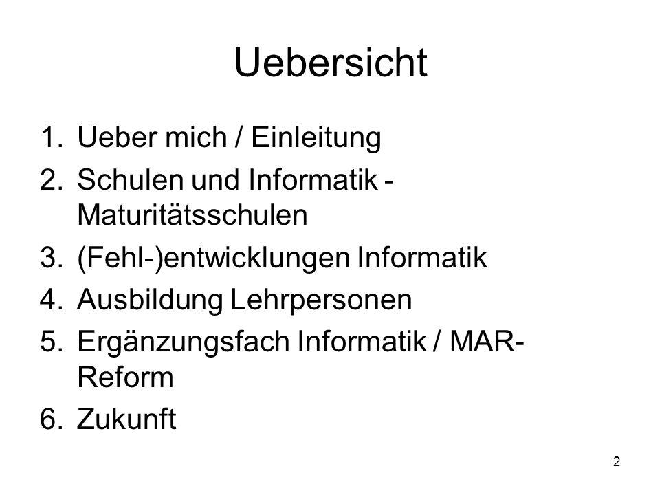 Uebersicht Ueber mich / Einleitung