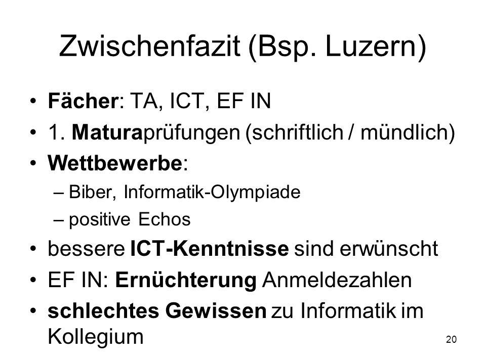 Zwischenfazit (Bsp. Luzern)
