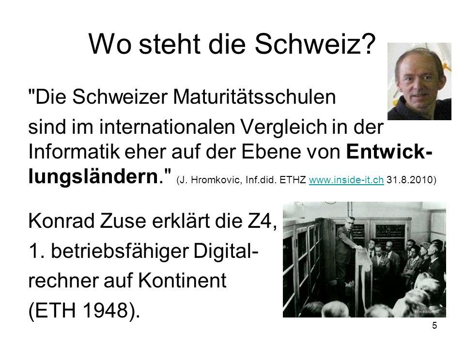 Wo steht die Schweiz