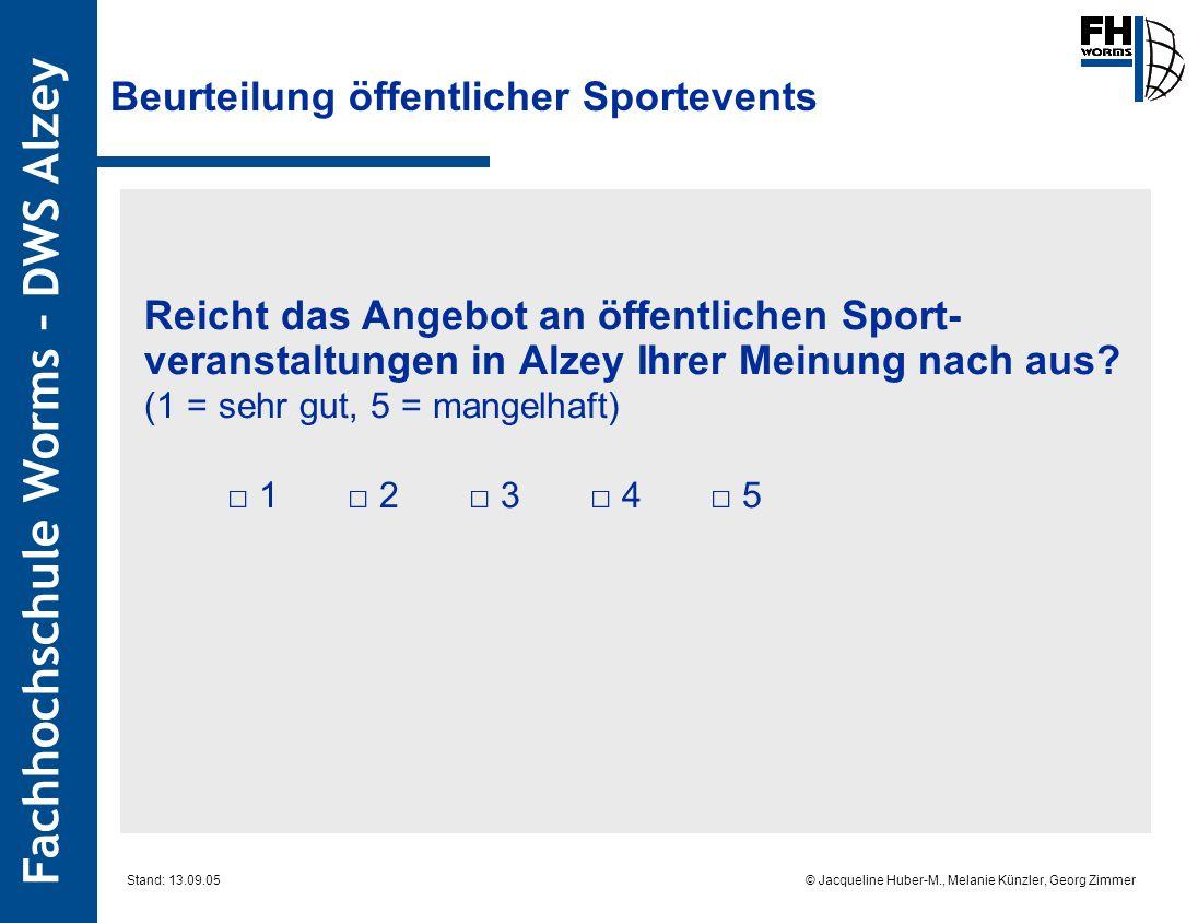 Beurteilung öffentlicher Sportevents