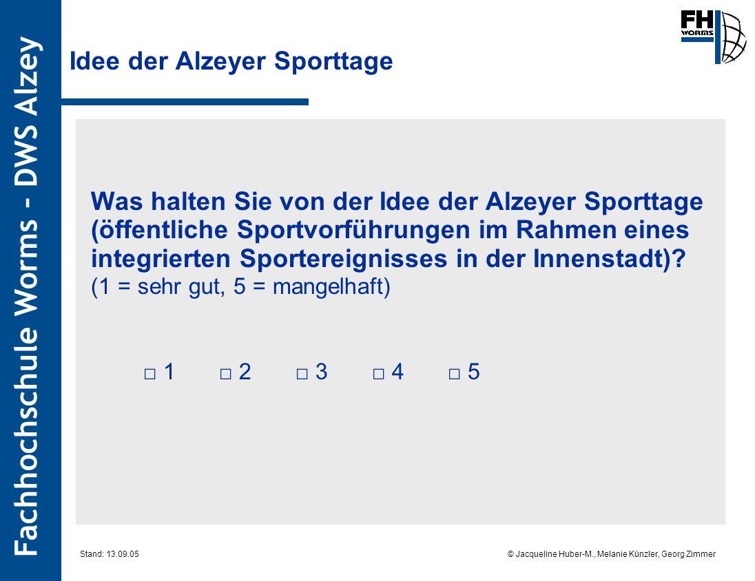 Idee der Alzeyer Sporttage