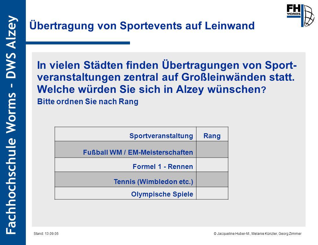 Übertragung von Sportevents auf Leinwand