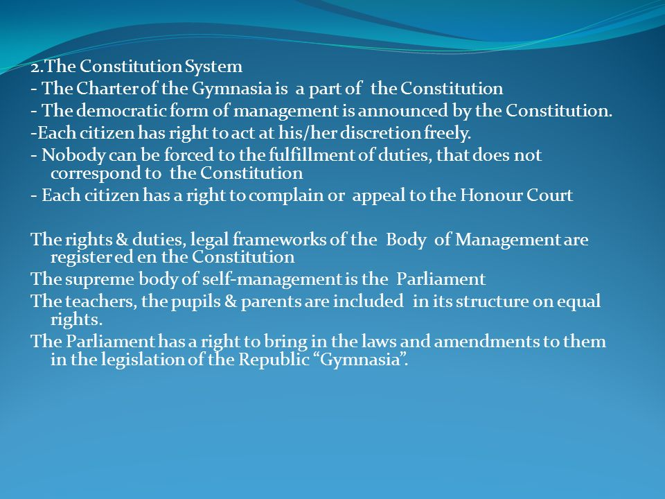 2.The Constitution System