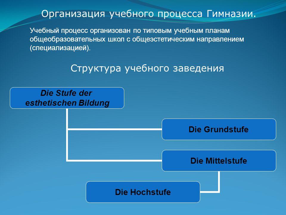 Организация учебного процесса Гимназии.