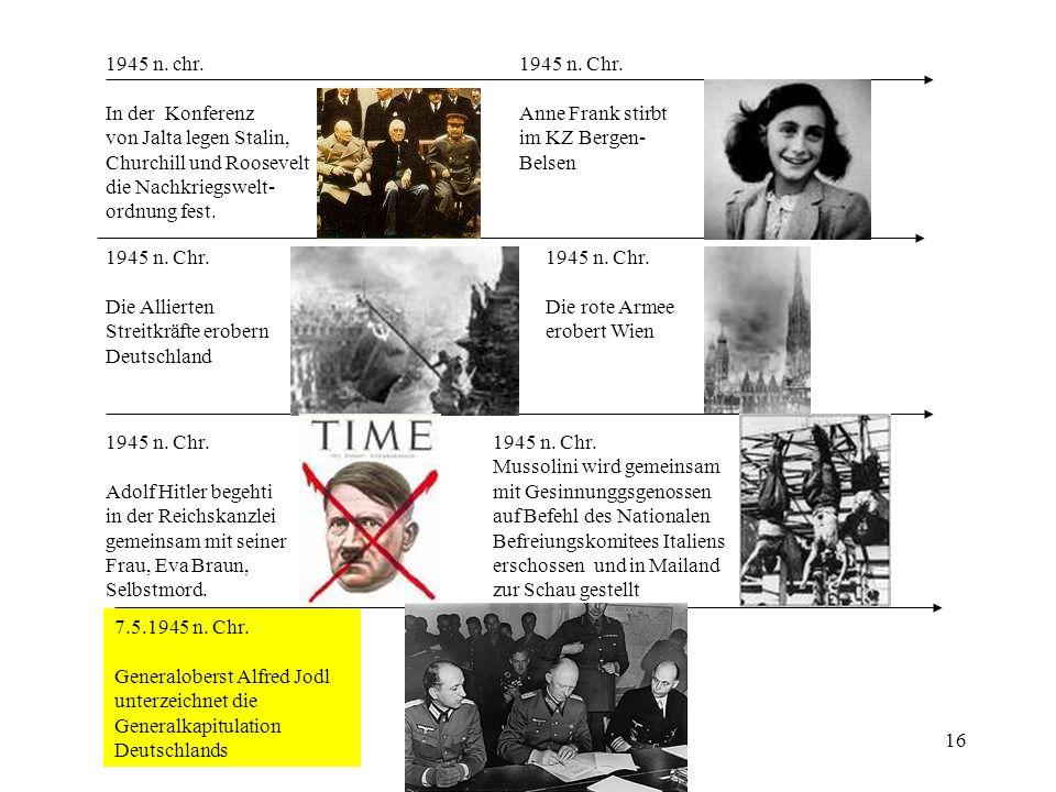 1945 n. chr. In der Konferenz. von Jalta legen Stalin, Churchill und Roosevelt. die Nachkriegswelt-