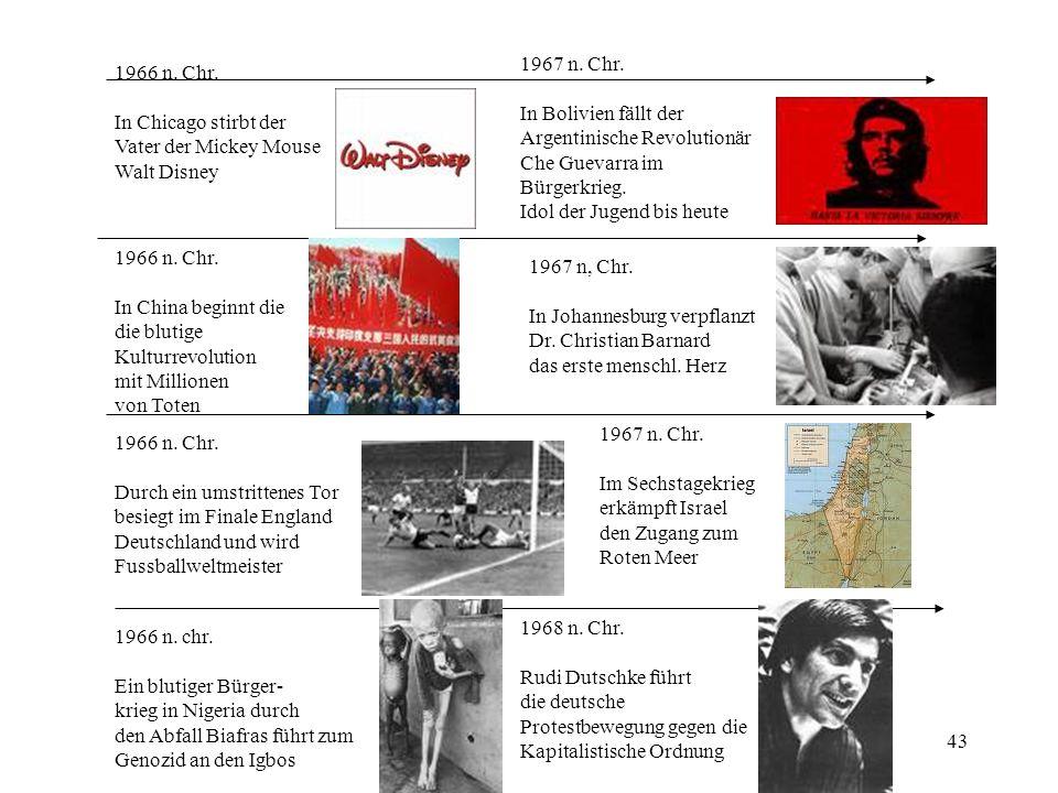 1967 n. Chr. In Bolivien fällt der. Argentinische Revolutionär. Che Guevarra im. Bürgerkrieg. Idol der Jugend bis heute.