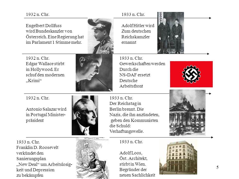 1932 n. Chr. Engelbert Dollfuss. wird Bundeskanzler von. Österreich. Eine Regierung hat. im Parlament 1 Stimme mehr.