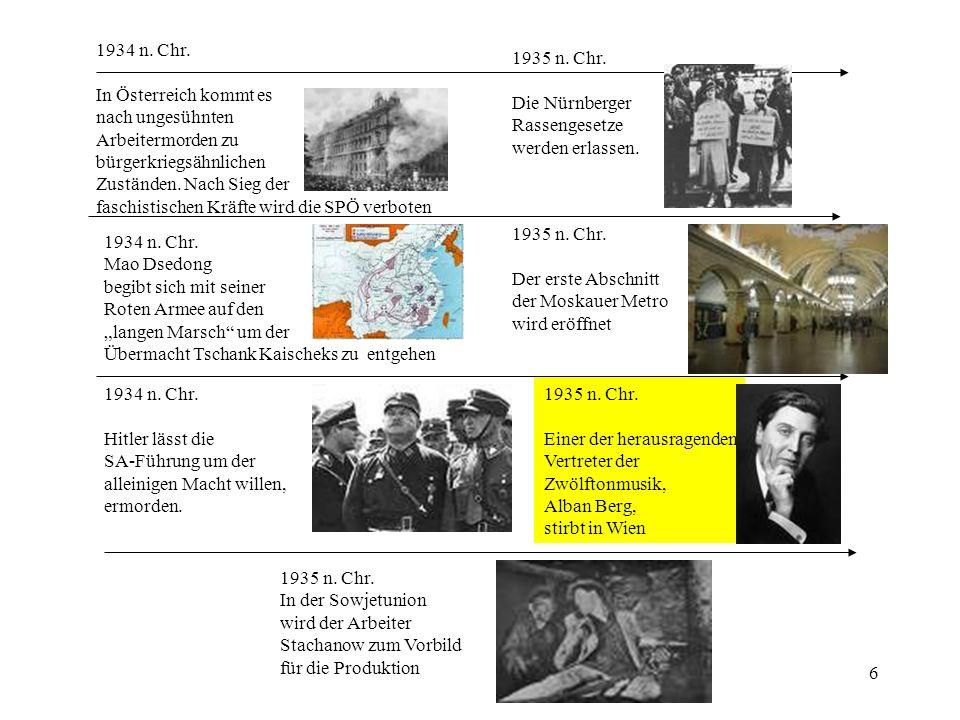 1934 n. Chr. In Österreich kommt es. nach ungesühnten. Arbeitermorden zu. bürgerkriegsähnlichen.