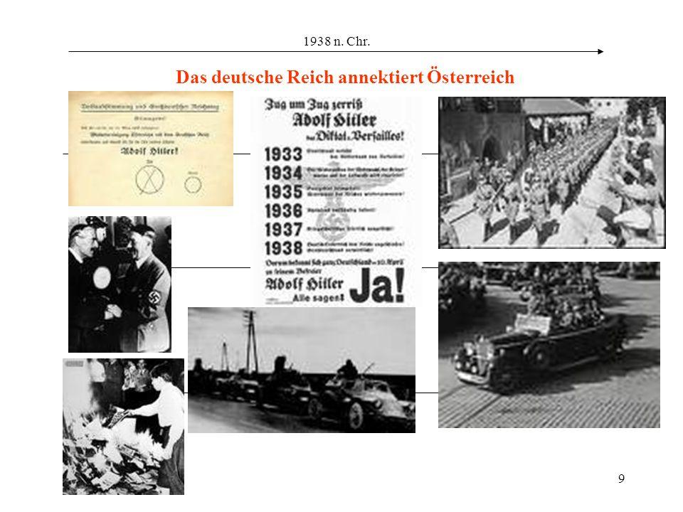 Das deutsche Reich annektiert Österreich