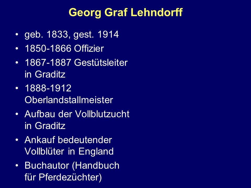 Georg Graf Lehndorff geb. 1833, gest. 1914 1850-1866 Offizier
