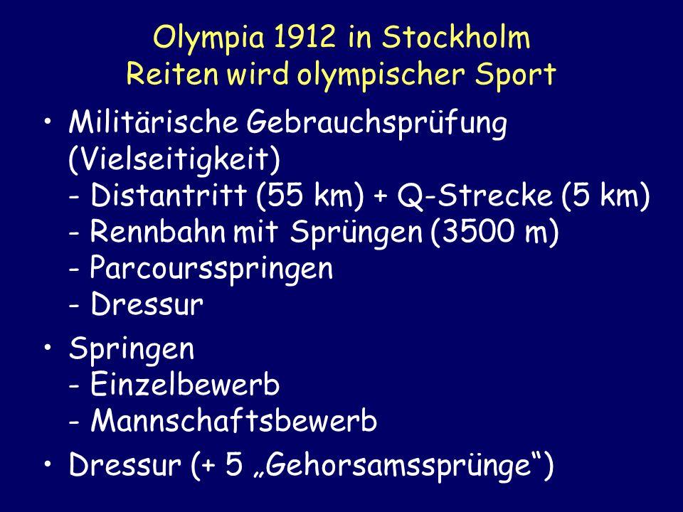Olympia 1912 in Stockholm Reiten wird olympischer Sport