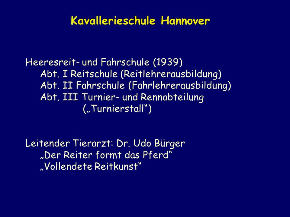 Kavallerieschule Hannover