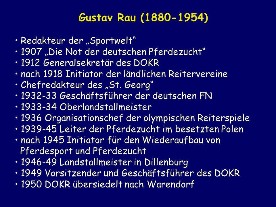 """Gustav Rau (1880-1954) Redakteur der """"Sportwelt"""