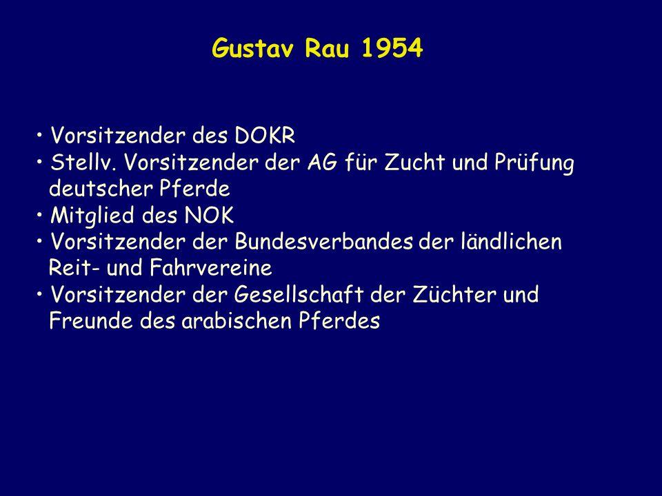 Gustav Rau 1954 Vorsitzender des DOKR