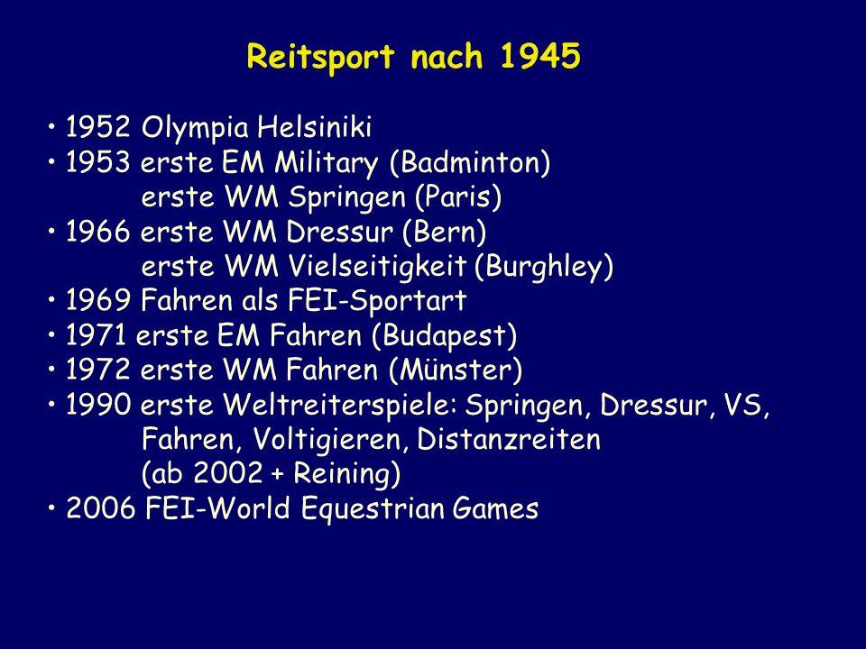 Reitsport nach 1945 1952 Olympia Helsiniki