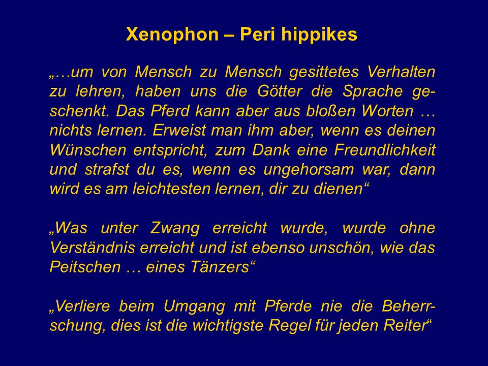 Xenophon – Peri hippikes
