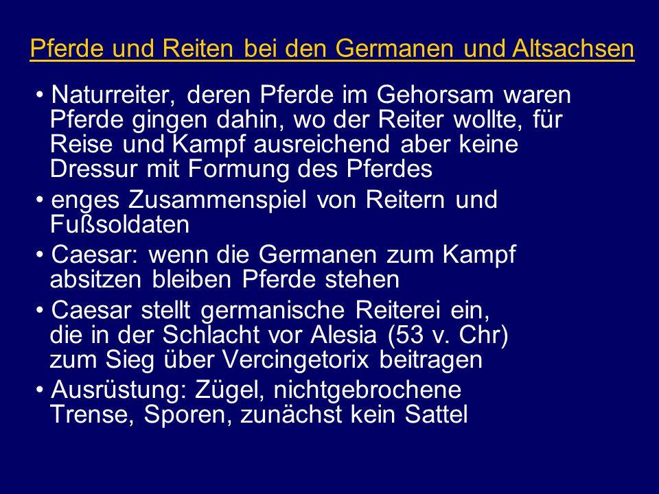 Pferde und Reiten bei den Germanen und Altsachsen