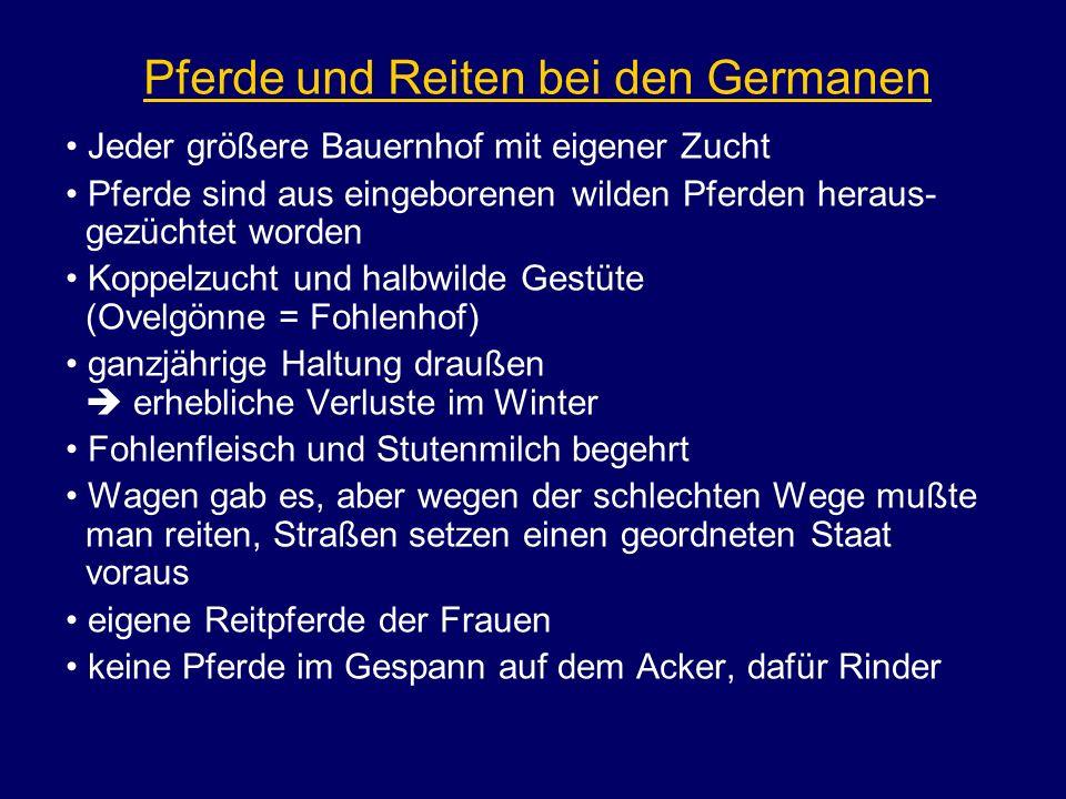 Pferde und Reiten bei den Germanen