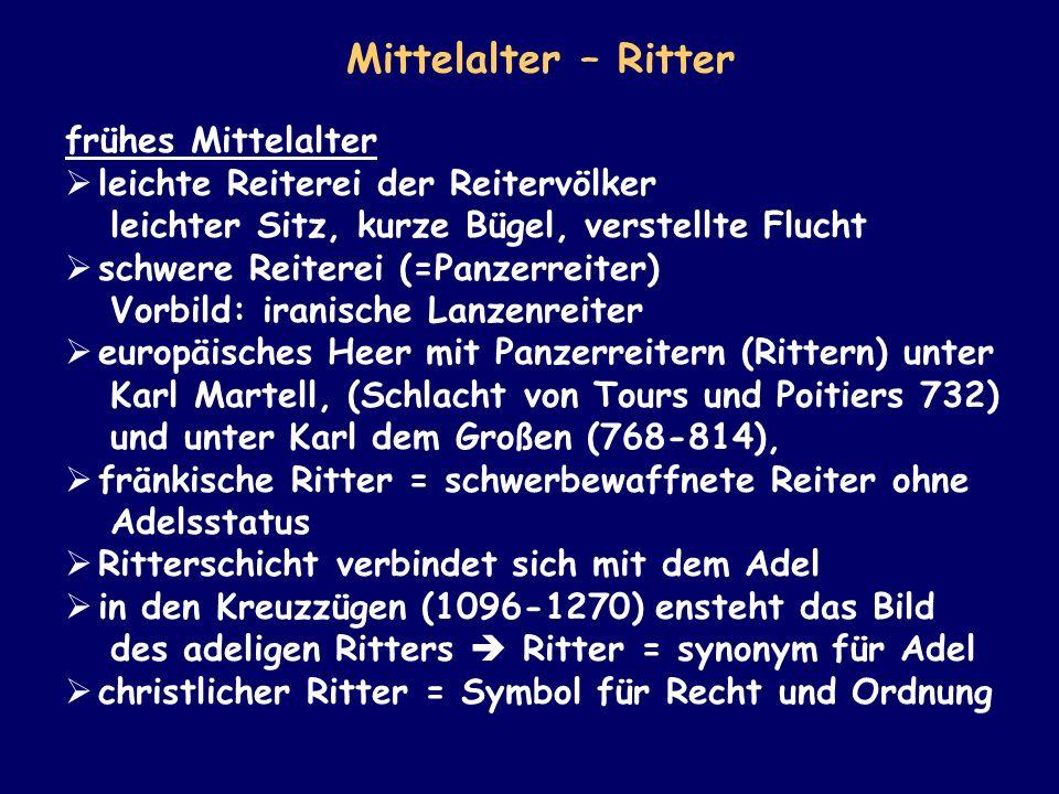 Mittelalter – Ritter frühes Mittelalter