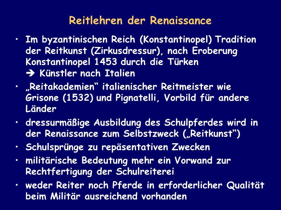 Reitlehren der Renaissance