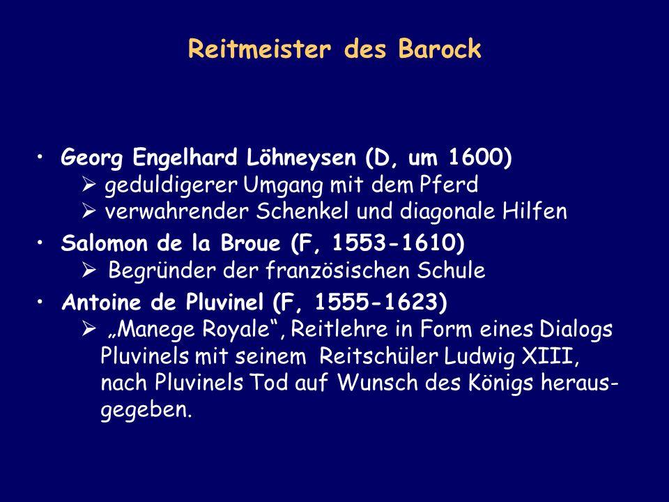 Reitmeister des Barock