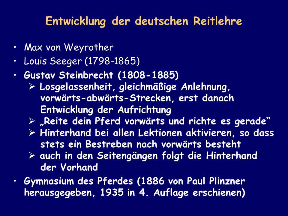 Entwicklung der deutschen Reitlehre