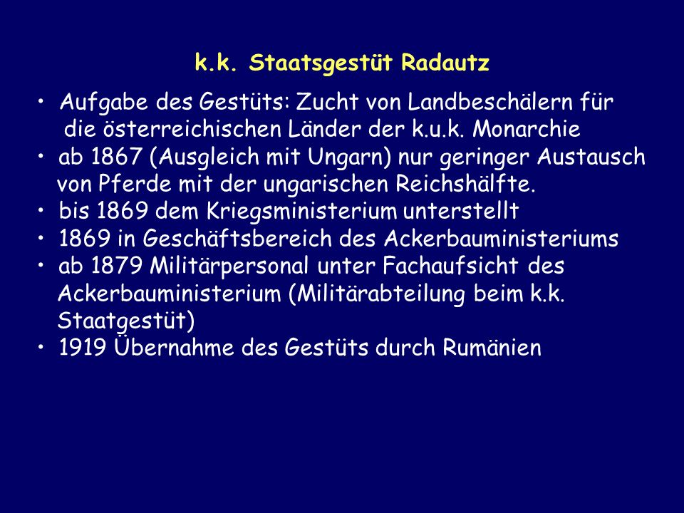 k.k. Staatsgestüt Radautz
