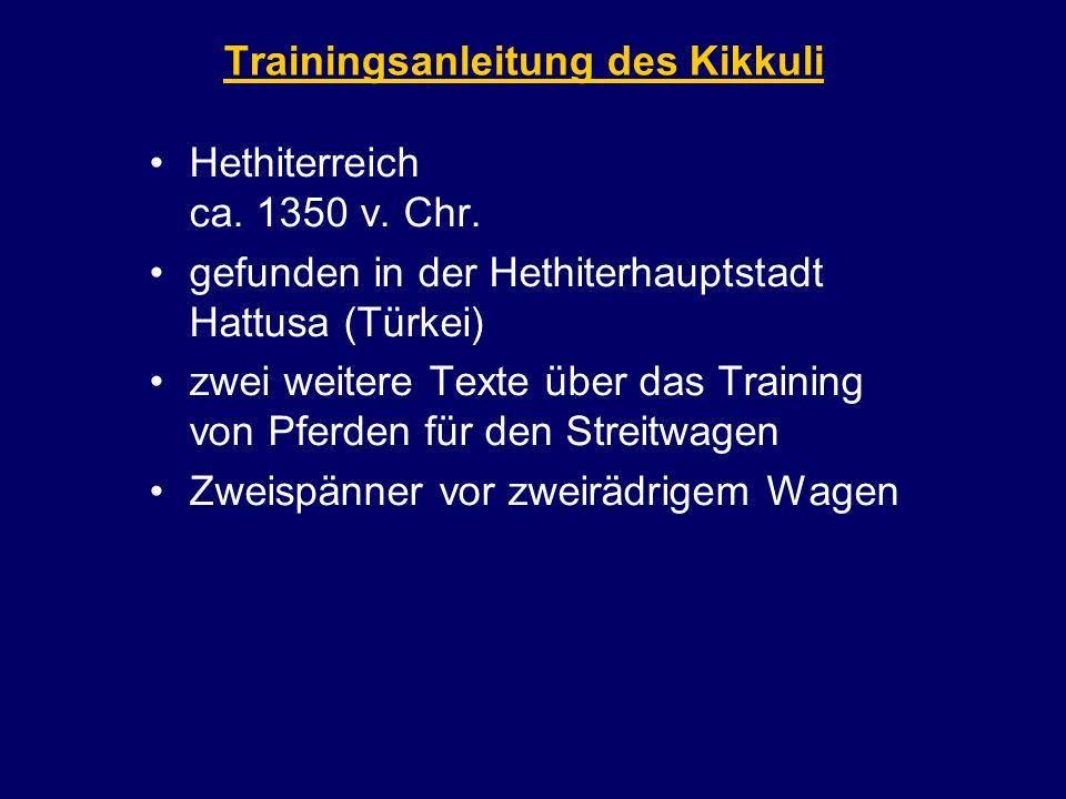 Trainingsanleitung des Kikkuli