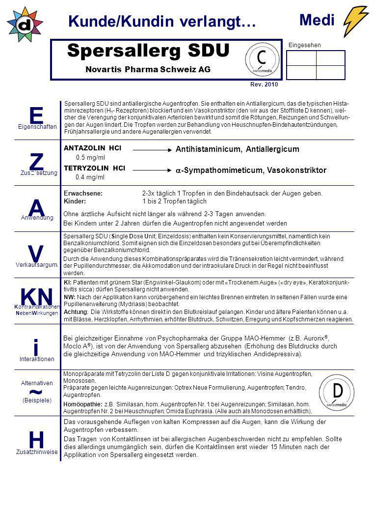 Spersallerg SDU Novartis Pharma Schweiz AG