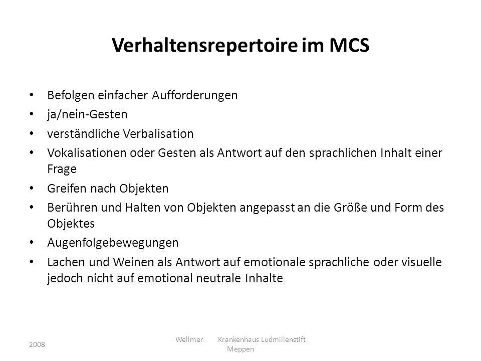 Verhaltensrepertoire im MCS