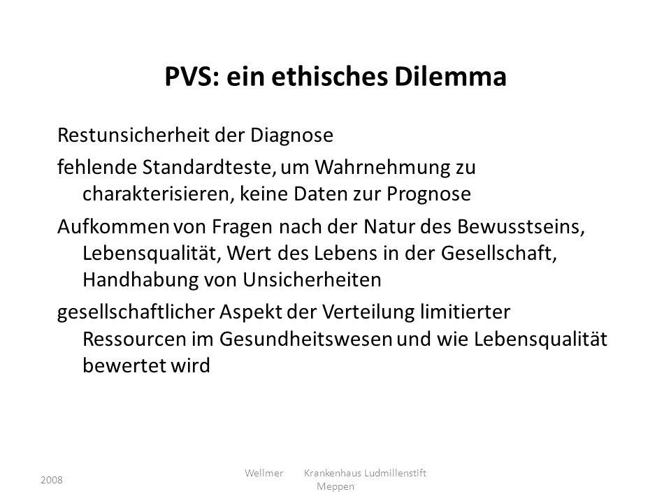 PVS: ein ethisches Dilemma