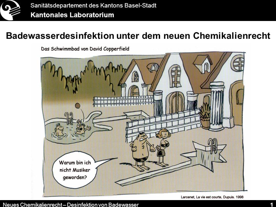 Badewasserdesinfektion unter dem neuen Chemikalienrecht