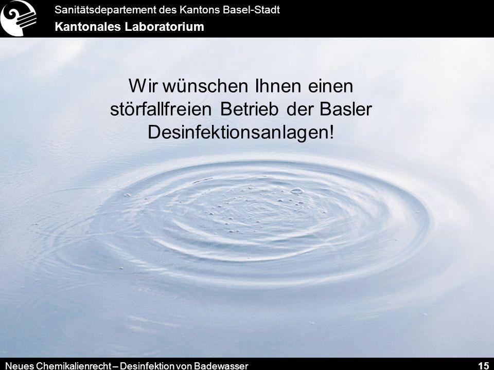 Wir wünschen Ihnen einen störfallfreien Betrieb der Basler Desinfektionsanlagen!