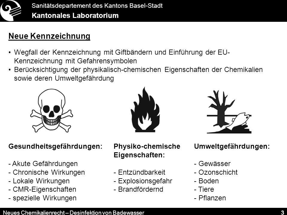 Neue Kennzeichnung Wegfall der Kennzeichnung mit Giftbändern und Einführung der EU- Kennzeichnung mit Gefahrensymbolen.