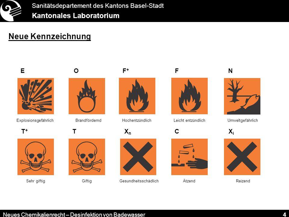 Neue Kennzeichnung E F+ F O T+ T Xn C Xi N Explosionsgefährlich