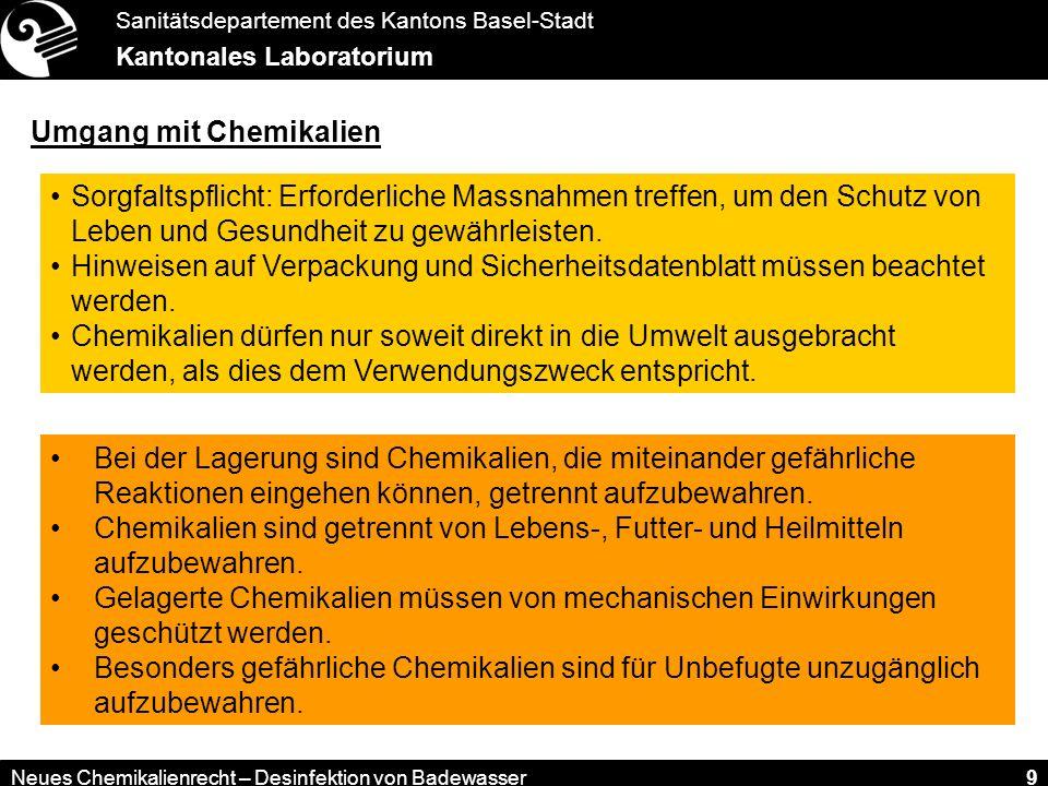 Umgang mit Chemikalien
