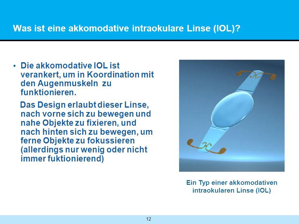 Was ist eine akkomodative intraokulare Linse (IOL)