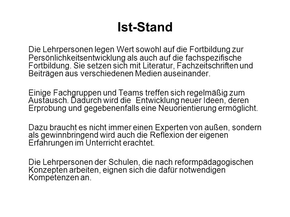 Ist-Stand
