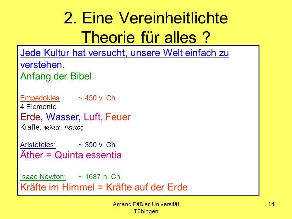 2. Eine Vereinheitlichte Theorie für alles